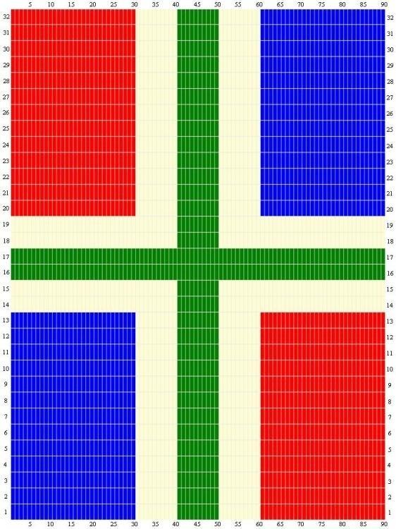 Sunarts Doe Het Zelf Pakket Model Vlag Groningen 80 X 210 Cm