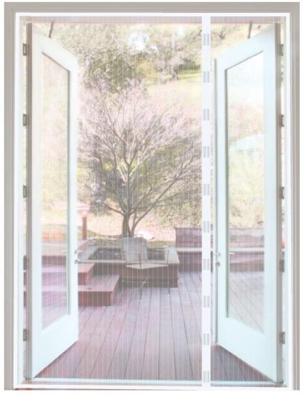 Uitgelezene ACTIE! Magneetgordijn Wit 230 x 250 cm - Magneet horgordijn RG-95